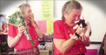 Students Surprise Teacher With Kittens After Beloved Cat Passes Away