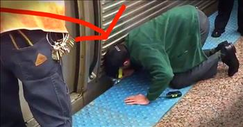 Stranger Saves Woman Trapped Underneath Train