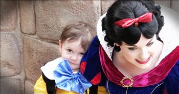 Sweet Boy With Autism Meets Snow White At Disney World