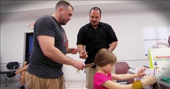 Single Dad Helps Other Fathers Learn To Style Their Daughter's Hair