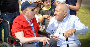 WWII Veteran And Holocaust Survivor Reunite 71 Years Later