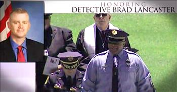 Officer Sings 'Amazing Grace For Fallen Police Officer