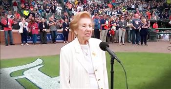 89-Year-Old Holocaust Survivor Lives Dream Of Singing 'The National Anthem'