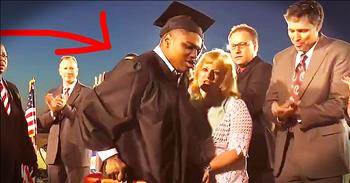 Student With Cerebral Palsy Stands Up And Walks To Receive Diploma