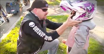 Tough Bikers Do The Incredible For A Bullied Little Girl