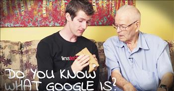 Grandson Teaches 91-Year-Old Grandpa To Use New Technology