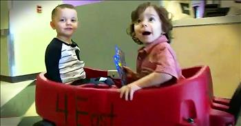 Toddlers Fighting Leukemia Become Best Friends