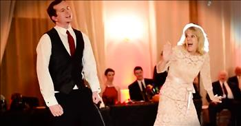 Mother-Son Surprise Dance Has The Whole Crowd Cheering