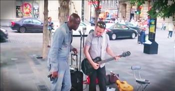 Famous Singer Joins Street Performer For Impromptu Duet