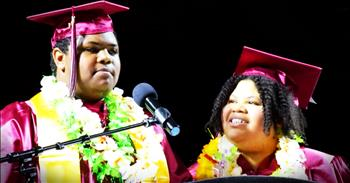 Mother And Son Graduate Together In Inspiring Ceremony