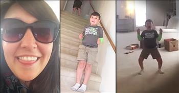 7-Year-Old Dances For Joy At News He Is Cancer Free