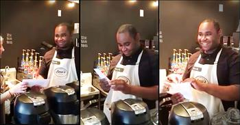 Young Man's Reaction To His Surprise Tips Is Heartmelting