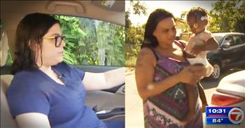 Nurse Crashes Car In Order To Save Stranger And Her Child