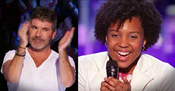 14-Year-Old Earns Golden Buzzer For Show-Stopping 'Rise Up' Audition