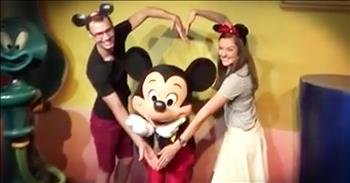 Couple's Sweet Proposal Has Surprise Help From Mickey Mouse