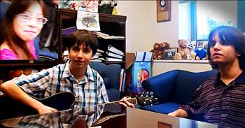 2 Brothers Sing To Their Newly Adopted Sister