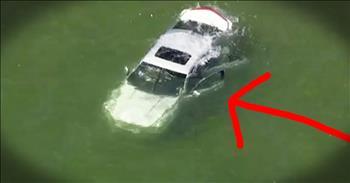 Good Samaritan Jumps Into Lake To Save Man In Sinking Car
