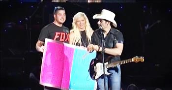 Couple Has Brad Paisley Reveal The Gender Of Their Baby During Concert!