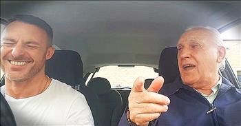 Father With Alzheimer's Sings Nostalgic Song In The Car With Son