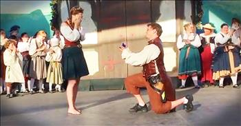 Man Surprises Girlfriend With Proposal After Irish Dancing Routine