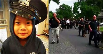 Police Officers Surprise Terminally Ill Boy Who Wants To Be A Cop