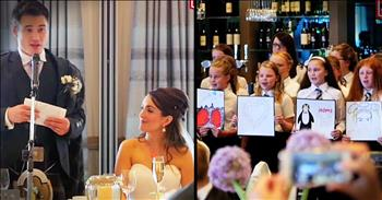 Groom Who Can't Sing Has His Elementary Students Serenade His New Bride
