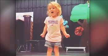 2-Year-Old Belts Out Her ABC's In The Cutest Way