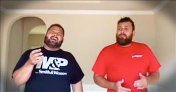 Singing Contractors Perform Beautiful Rendition Of 'Covered By The Blood'