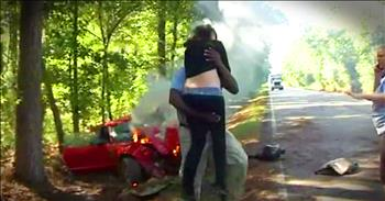 Hero News Photographer Rescues Pregnant Woman From Burning Car