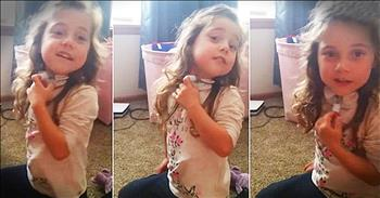 Little Girl With Breathing Tube Sings 'Twinkle Twinkle Little Star'