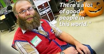 Smiling Lowes Employee Receives Wheelchair From Co-Workers