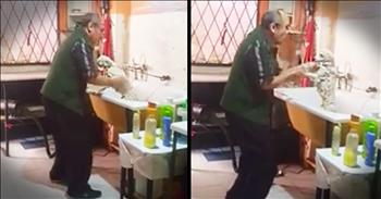 Pet Groomer Gets Caught Dancing With A Dog
