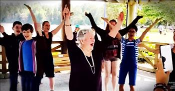 85-Year-Old Receives Birthday Flash Mob To Make Her Dreams Come True
