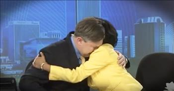 Anchorman Cries Saying Goodbye To Co-Anchor