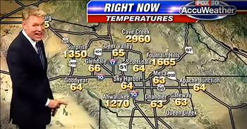 Weatherman Gets Through Technical Difficulties On Map