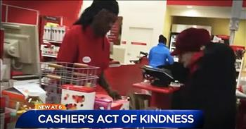 Woman Shares Target Cashier's Act Of Kindness For Elderly Woman