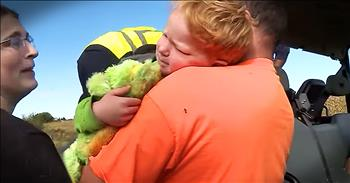 Rescuer Finds Missing 3-Year-Old Lost In A Cornfield