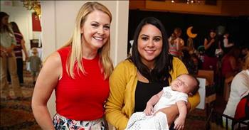 Actress Melissa Joan Hart Showers Military Moms With Love