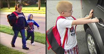 Second-Grader Walks To School Everyday Until Kind Neighbor Steps In