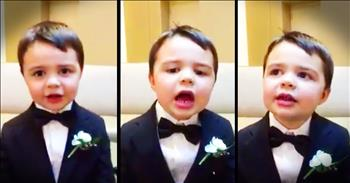Precious Ring Bearer Recites His Bible Verse ABCs