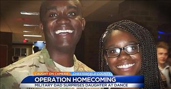 Military Father Surprises Daughter At Homecoming Dance