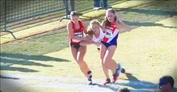 Rivals Stop To Carry Collapsed Runner During Race