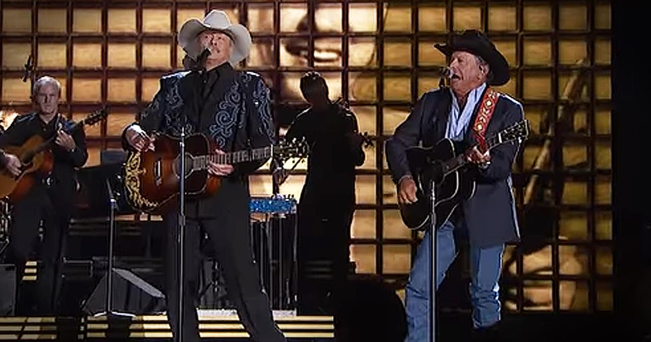 Alan Jackson And George Strait Perform In Honor Of Lost Country Artists