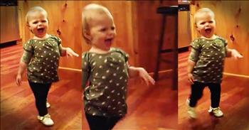 Funny Toddler 'Waddles' Like Pregnant Mom