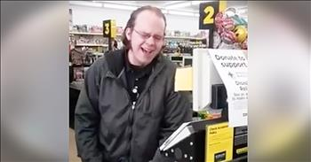 Talented Cashier At Dollar General Sings For Customers