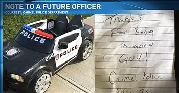 Police Officer Leaves Thank You Note On Boy's Toy Car