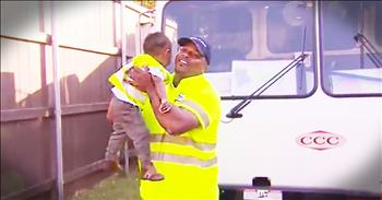 2-Year-Old And His Garbage Man Best Friend Share Sweet Bond