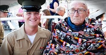 Vet With 2 Weeks Left To Live Sees Marine Grandson Graduate