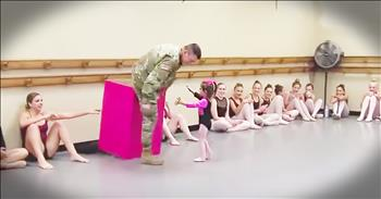 Tiny Ballerina Reunites With Her Soldier Daddy Before Thanksgiving