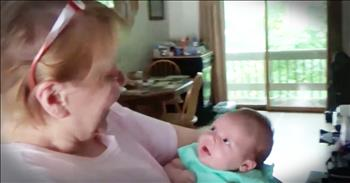 Couple Surprises New Grandma With Their 6-Week-Old Baby